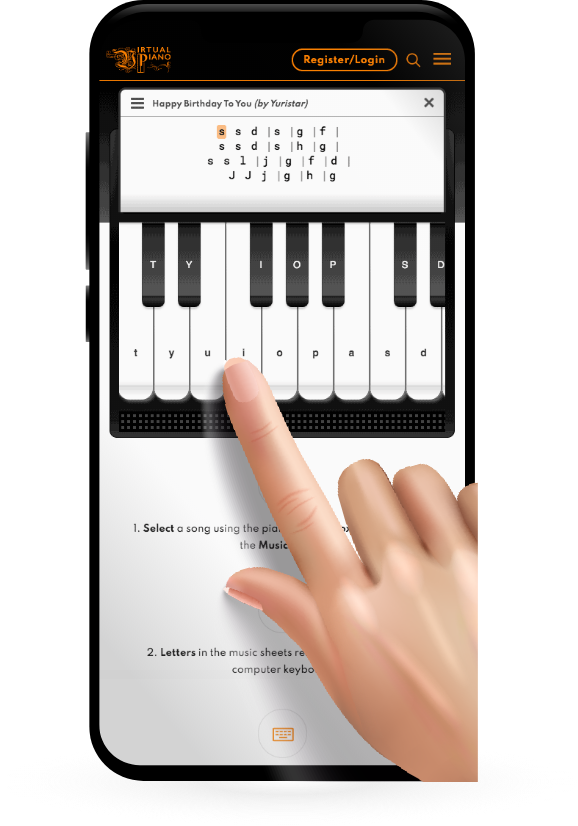 How to play Virtual Piano on a Mobile?