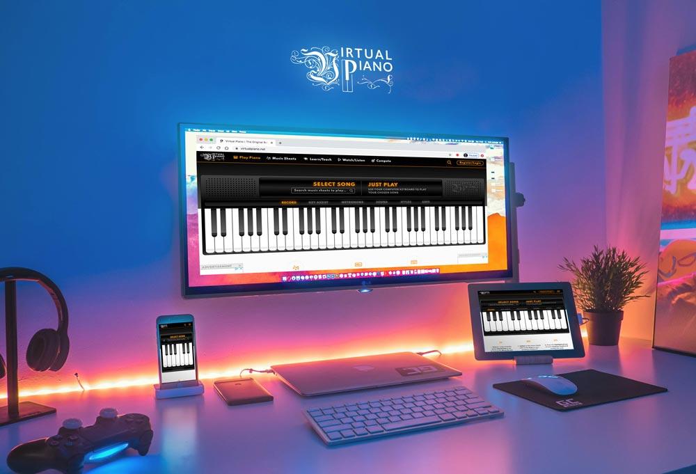 Multi Screen Piano, Virtual Piano