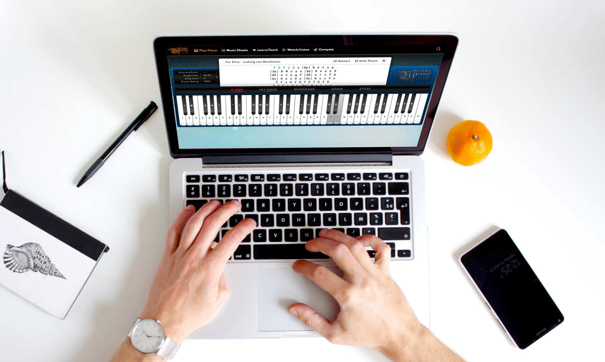 Online Piano Keyboard, Play Virtual Piano