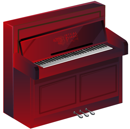 Virtual Upright Piano