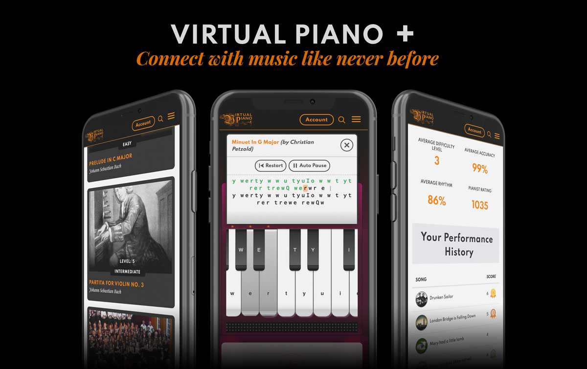 Connect with music, Virtual Piano, 1200px